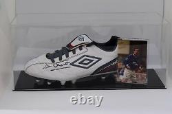 David Weir Signed Autograph Football Boot Display Case Everton COA