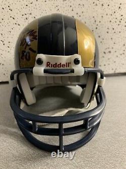 Deacon Jones HOF 80 Rams Signed Mini Helmet With Display Case Bosley COA