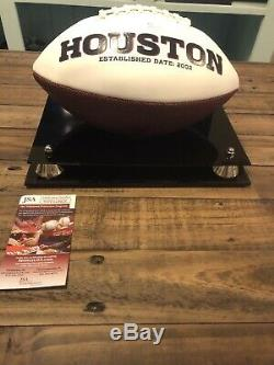 Deandre Hopkins Signed Autograph Football With Display Case Jsa Houston Texans Coa
