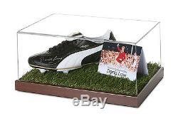 Denis Law Signed Football Boot Display Case Man Utd Autograph Memorabilia + COA