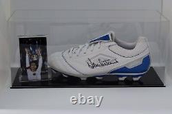 Dennis Mortimer Signed Autograph Football Boot Display Case Aston Villa COA