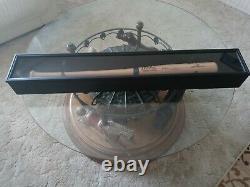 Derek Jeter Hand Autographed Baseball Bat WITH wood Display Case- COA