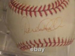 Derek Jeter MLB NEW YORK Yankees Signed Baseball with Display Case COA HOF SS