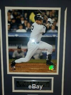 Derek Jeter Singed Baseball And Display Case Stiener COA