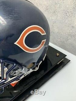 Dick Butkus NFL HOF Autographed Football Helmet BGS Cert Name Display Case Coa
