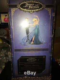 Disney Designer doll Frozen ELSA w diamonds in hair, display case &COA redressed