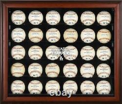 Dodgers Baseball Logo Display Case Fanatics Authentic COA Item#10868767