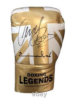 Dual Signed Chris Eubank & Nigel Benn Boxing Glove with Display Case RARE COA
