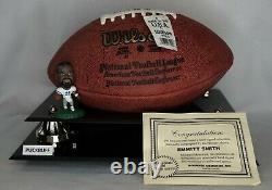 EMMITT SMITH #22 Signed NFL Football DALLAS COWBOYS Display Case COA