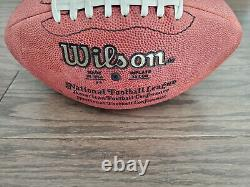 EMMITT SMITH Autographed NFL Wilson Football-Display Case & COA-Dallas Cowboys