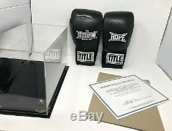 Eminem Signed SouthPaw Boxing Gloves Shady with COA and Display Case LE 100