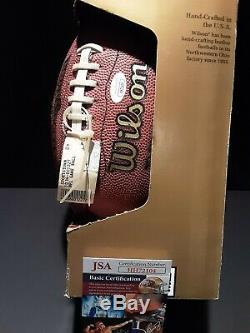 Emmitt Smith Autographed Offical NFL Football With Display Case JSA COA