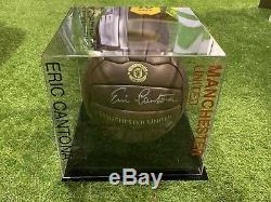 Eric Cantona Signed Football Manchester United KING Legend Display Case COA