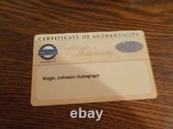 Ervin Magic Johnson Autograph Basketball In Custom Display Case Coa Steiner
