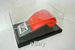 Evander Holyfield Signed Autograph Boxing Glove Display Case Sport PROOF & COA