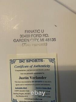Framed Justin Verlander Autographed Picture From No Hitter on 6-12-07 With COA