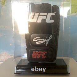 Francis Ngannou Autographed Signed UFC Glove In Display Case Beckett BAS COA