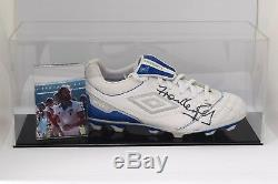 Frank Lampard Snr Signed Autograph Football Boot Display Case West Ham COA