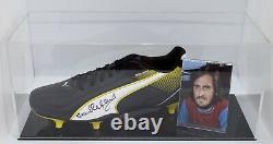 Frank Lampard Sr Signed Autograph Football Boot Display Case West Ham Utd COA
