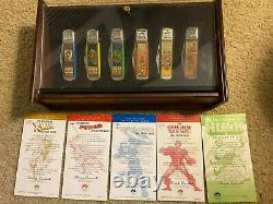 Franklin Mint Marvel Knives Set of 6, Display Case and 5 COA'S