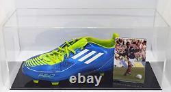 Gary McAllister Signed Autograph Football Boot Display Case Scotland AFTAL COA