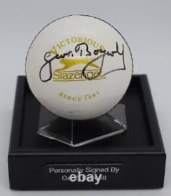 Geoff Boycott Signed Autograph Cricket Ball Display Case England AFTAL & COA
