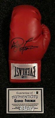 George Foreman Signed Boxing Glove World Champion Display Case RARE COA PROOF