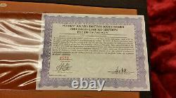 Gil Hibben Gh2026 Eye Of Drakonus Gold-0373/2000-wood Display Case & Coa-ln
