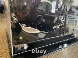 J. J. Watt Signed Auto replica Full-Size Football Helmet & display case JSA COA