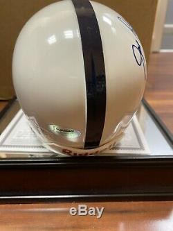 JOE PATERNO SIGNED PENN STATE NITTANY LIONS MINI HELMET WithDISPLAY CASE WithCOA PSU