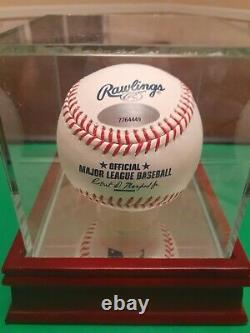 Jacob Degrom Signed & Inscribed Mlb Bball W Tri Star Coa & Steiner Display Case