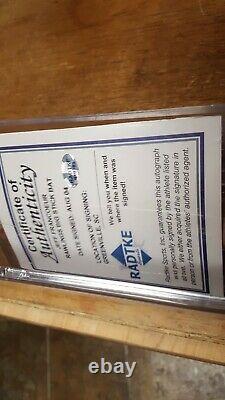 Jeff Francoeur Autographed COA Bat with Display Case