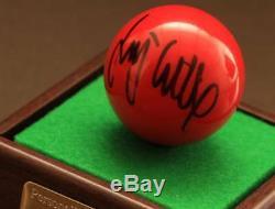Jimmy White Signed Snooker Ball Autograph Display Case Memorabilia COA