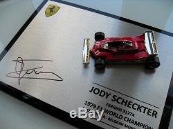 Jody Scheckter Hand Signed 1/43 Ferrari 312 T4 1979 Display Case Coa Proof Photo