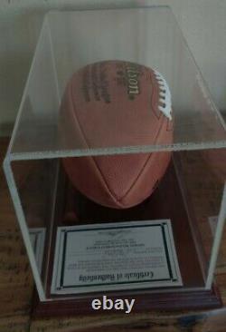 Joe Namath Autographed NFL Football with Display Case & COA