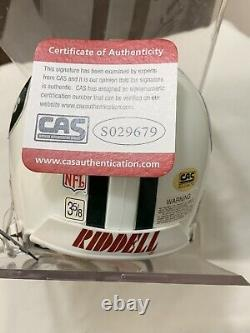 Joe Namath Signed Mini Helmet With COA and display case