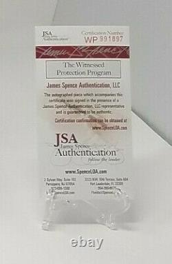 Joe Namath Signed New York Jets TB TK F/S Helmet JSA COA 897 Display Case