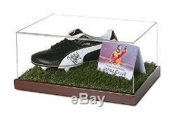 Johan Cruyff Signed Football Boot Display Case Holland Autograph Memorabilia COA