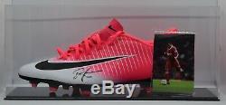 John Barnes Signed Autograph Football Boot Display Case Liverpool AFTAL COA