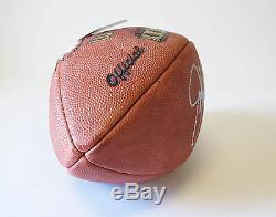 John Elway Superbowl 33 XXXIII M. V. P. 1999 Football in Display Case with COA