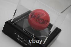 John Parrott Signed Autograph Snooker Ball Display Case Sport AFTAL COA