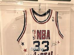 LARRY BIRD BOSTON CELTICS SIGNED ALL STAR JERSEY with COA in Acrylic Display Case