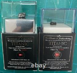 Large Size Authentic Titanic Coal in Display Case with COA