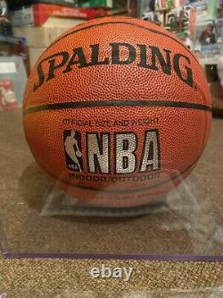 Larry Bird Autograph Full Size Spalding Basketball NBA with COA and Display Case
