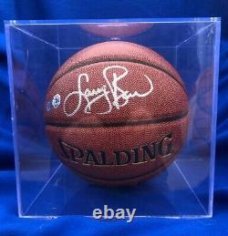 Larry Bird Celtics Signed Autographed Spalding Basketball COA and Display Case