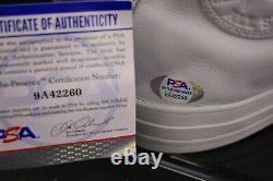 Larry Bird Signed Converse Basketball Shoe with Display Case Celtics PSA COA