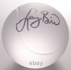 Larry Bird Signed Tiffany & Co. Crystal Ball / High Quality Display Case PSA COA