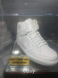 Larry Bird Signed Vintage Converse Basketball Shoe with Display Case (PSA COA)