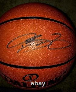 Lebron James Signed NBA Official Basketball With Display Case + Official PSAS COA