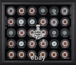 Lightning Hockey Puck Logo Display Case Fanatics Authentic COA Item#10789823